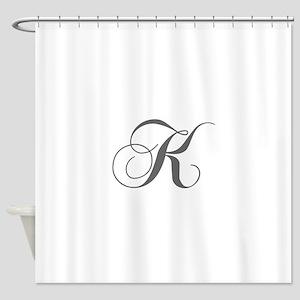 K-cho gray Shower Curtain