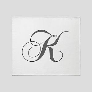 K-cho gray Throw Blanket