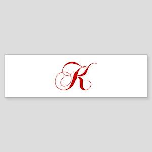K-cho red2 Bumper Sticker