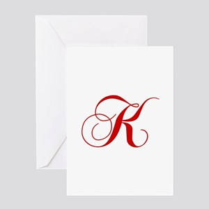 K-cho red2 Greeting Cards