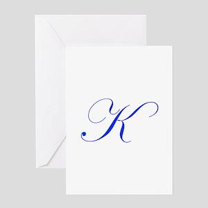 K-edw blue Greeting Cards