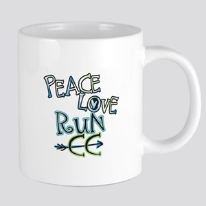 Peace Love Run CC Mugs