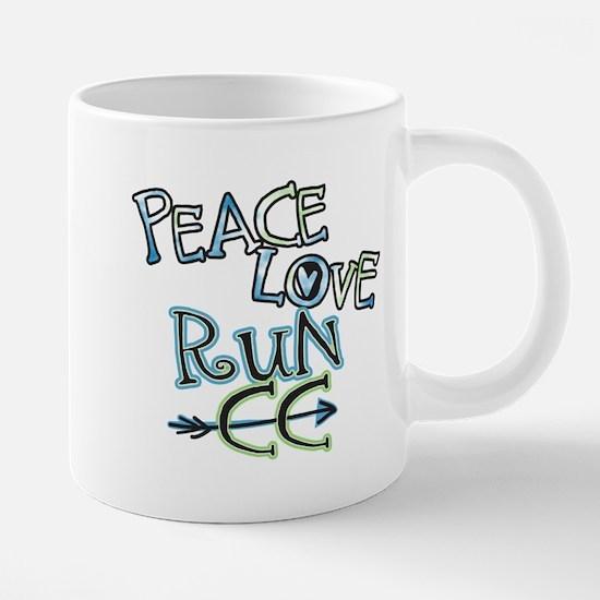 Peace Love Run CC Mugs