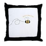 2nd Bee Loop Throw Pillow