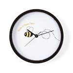 1st Bee Loop Wall Clock