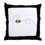 1st Bee Loop Throw Pillow