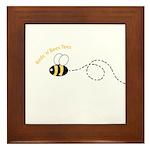1st Bee Loop Framed Tile