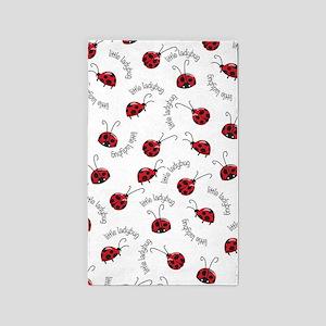 Little Red Ladybugs Area Rug