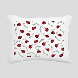 Little Red Ladybugs Rectangular Canvas Pillow