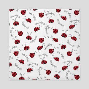 Little Red Ladybugs Queen Duvet