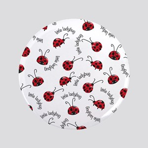 """Little Red Ladybugs 3.5"""" Button"""