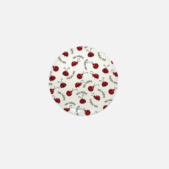 Little Red Ladybugs Mini Button