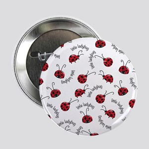 """Little Red Ladybugs 2.25"""" Button (10 pack)"""