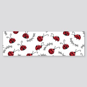 Little Red Ladybugs Bumper Sticker