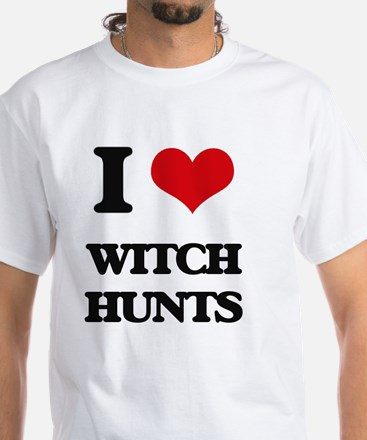 I love Witch Hunts White T-Shirt