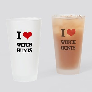 I love Witch Hunts Drinking Glass