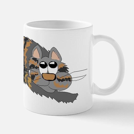 Cat Curled Up Mugs