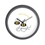 Twin Bees Flying Wall Clock
