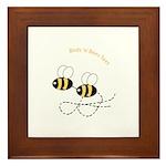 Twin Bees Flying Framed Tile