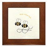 Twin Bees Flying Framed Tile
