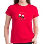 Twin Bees Flying Women's Dark T-Shirt