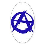 Anarchy Oval Sticker
