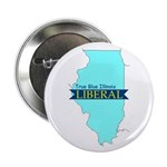 "True Blue Illinois LIBERAL 2.25"" Button (10 pack)"
