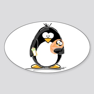 new baby Penguin Oval Sticker