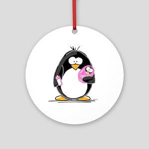 new baby girl Penguin Ornament (Round)