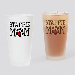 Staffie Mom Drinking Glass