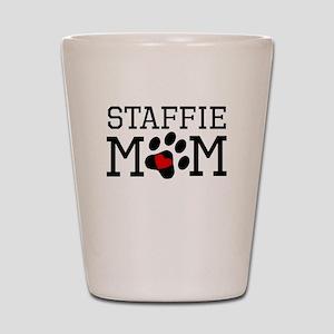 Staffie Mom Shot Glass