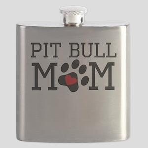 Pit Bull Mom Flask