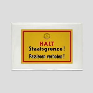 Halt Staatsgrenze! West-Berlin Rectangle Magnet