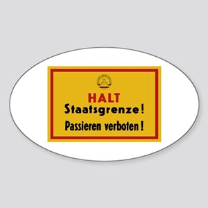 Halt Staatsgrenze! West-Berlin Sticker (Oval)