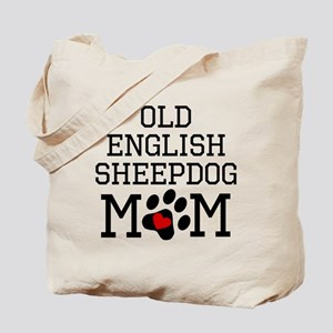 Old English Sheepdog Mom Tote Bag