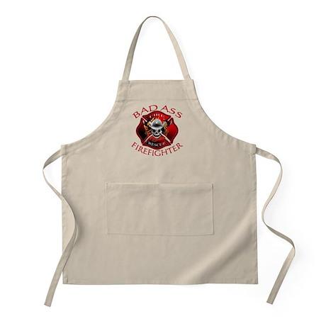 Bad Ass Firefighter BBQ Apron