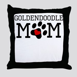 Goldendoodle Mom Throw Pillow