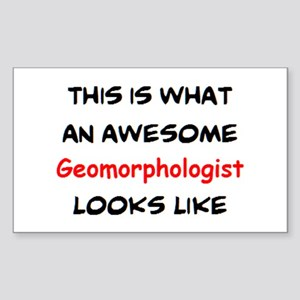 awesome geomorphologist Sticker (Rectangle)