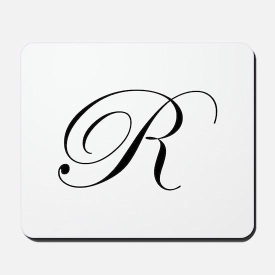 R-edw black Mousepad