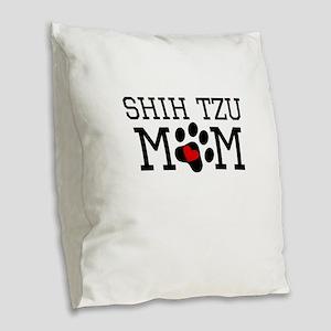 Shih Tzu Mom Burlap Throw Pillow