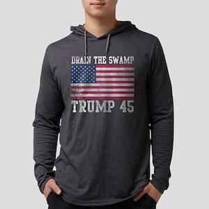 Trump 45 Drain The Swamp Long Sleeve T-Shirt