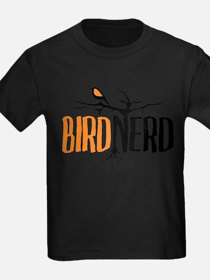 Bird Nerd (Black and Orange) T-Shirt