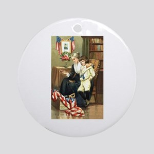 Patriotic Women with Son Ornament (Round)