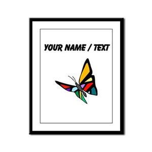 Custom Colorful Butterfly Framed Panel Print