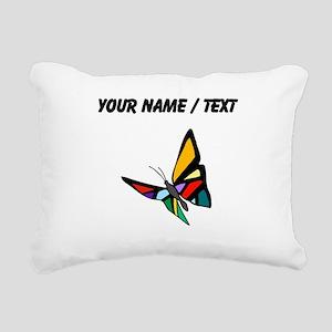 Custom Colorful Butterfly Rectangular Canvas Pillo