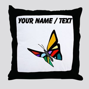 Custom Colorful Butterfly Throw Pillow
