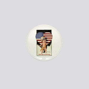 Patriotic Baby Mini Button