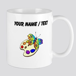 Custom Butterfly And Paint Mugs