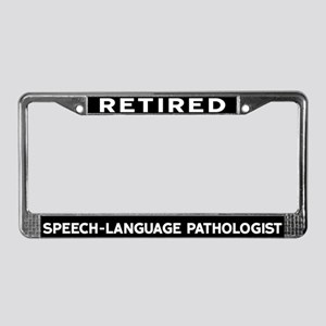 Speech-Language Pathologist License Plate Frame