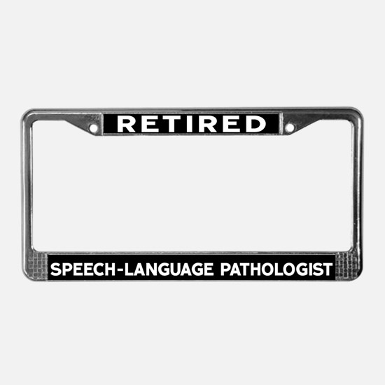Speech-Language Pathologist License Plate Frame